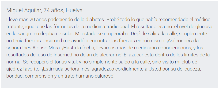 opiniones Insumed